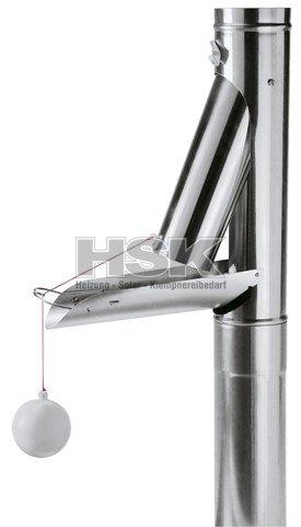 regenwasserklappe regenrohrklappe fallrohrklappe zink 100 mm automatisch 75 54 hsk. Black Bedroom Furniture Sets. Home Design Ideas