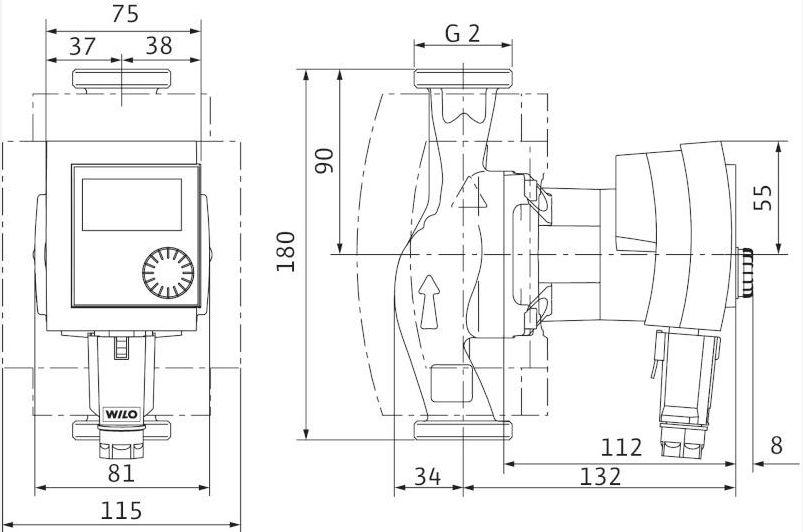 hocheffizienz pumpe wilo stratos pico 30 1 6 baul nge 180mm. Black Bedroom Furniture Sets. Home Design Ideas