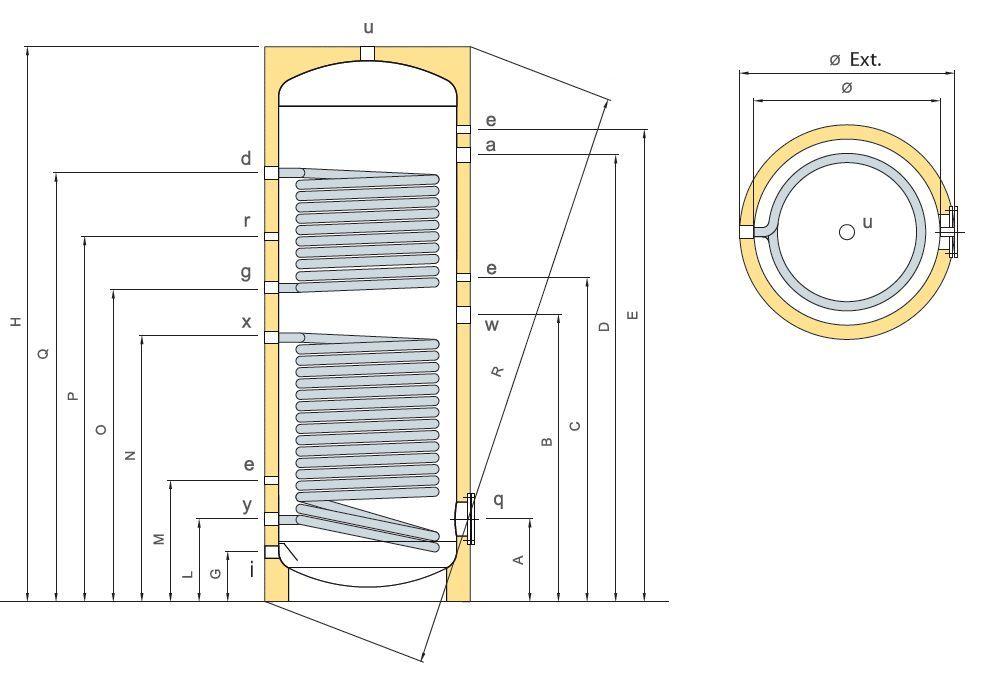 solarspeicher 1000 l warmwasserspeicher emailliert 2 wt. Black Bedroom Furniture Sets. Home Design Ideas
